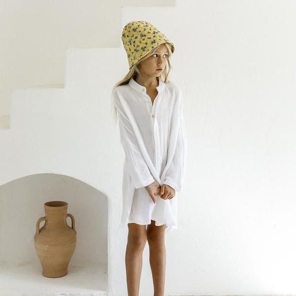 Kids Yoli & Otis Pala Bucket Hat - Mustard Floral