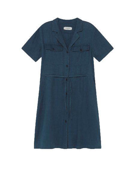 Thinking Mu Karen Hemp Dress - Blue