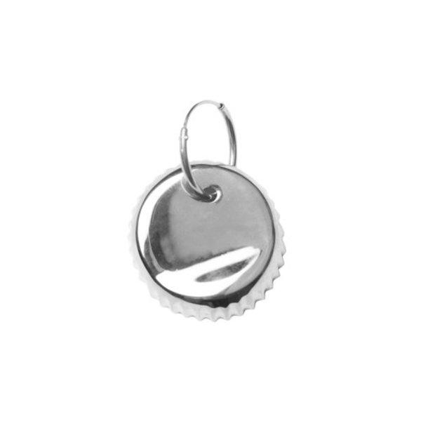VIBE HARSLOF X FACETASM Bottle cap earring - silver