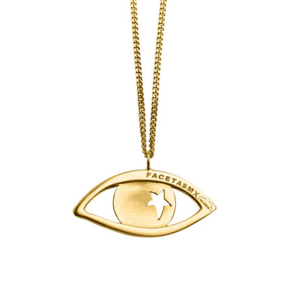 VIBE HARSLOF X FACETASM Goldplated Eye Pendant Necklace - gold