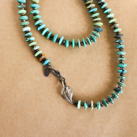 [pre-loved] Bess Heitner Beaded Necklace - turquoise/silver