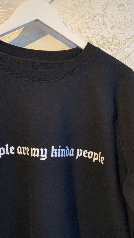 Brunette Kind People Sweatshirt - black