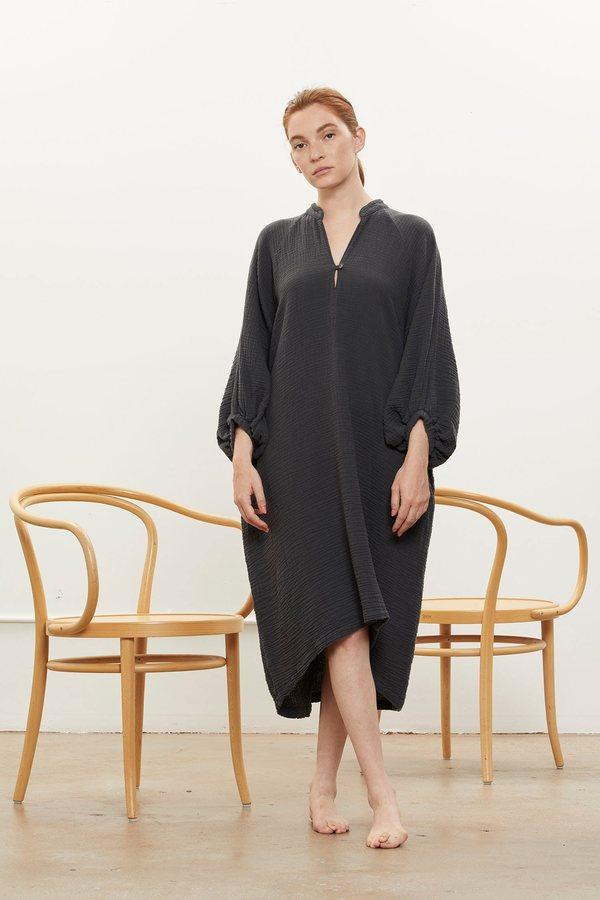 Black Crane Gauze Dress