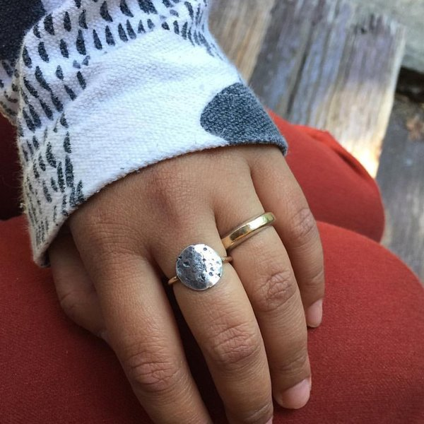Knuckle Kiss Moon Ring