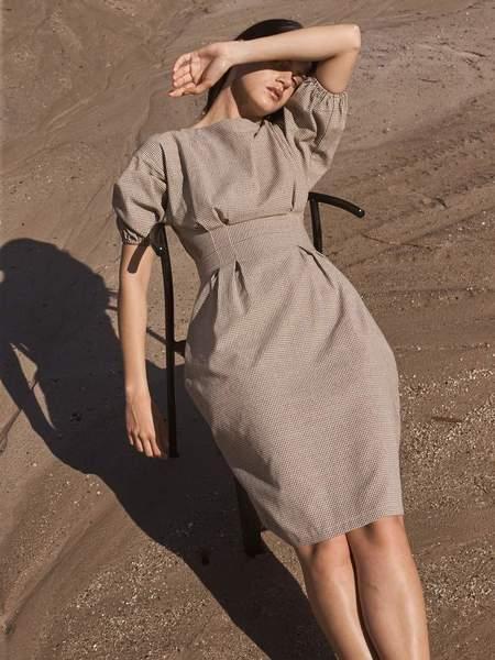 St. Agni Forme Dress - Plaid