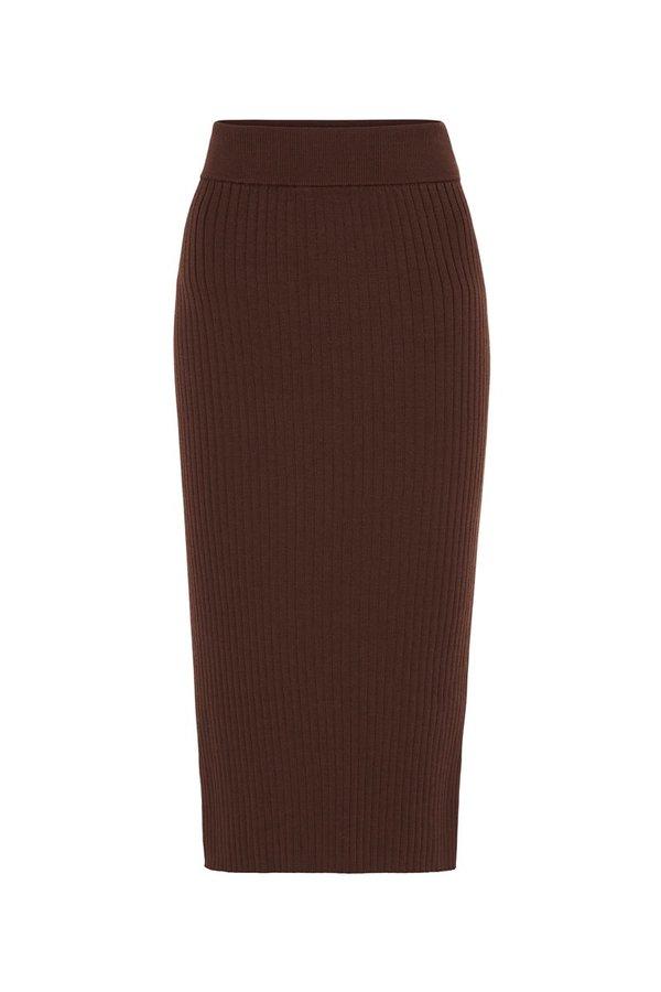 St. Agni Lia Knit Skirt - Coco