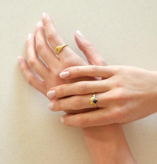 Sarah Safavi Dome Ring - 14k gold