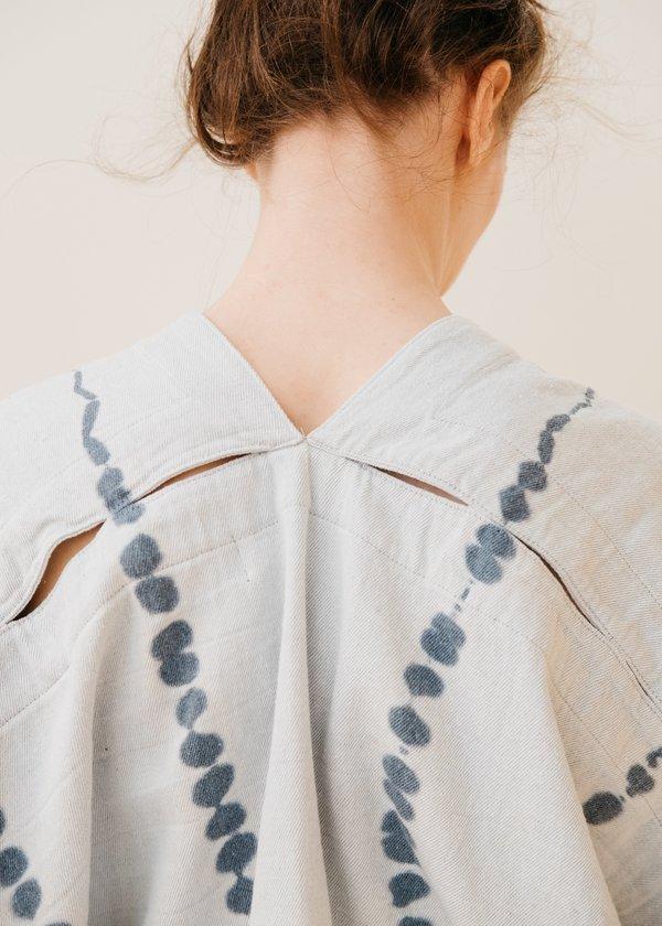 Atelier Delphine Celeste Top Upcycled Yarn Tie Dye