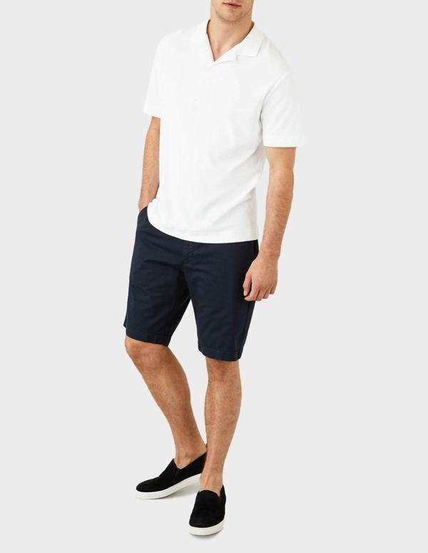 Sunspel Short Sleeve Terry Polo - White