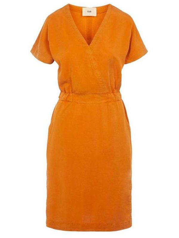 Folk Clothing Alber Dress - Marigold