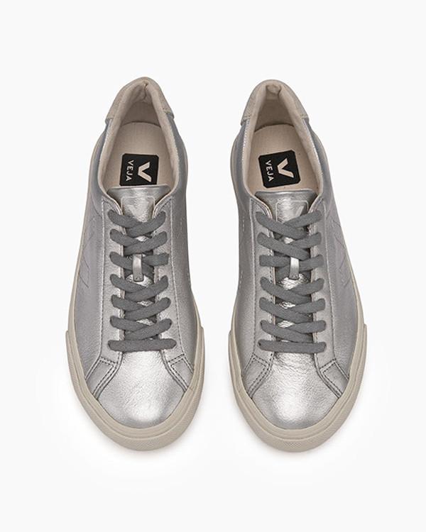 VEJA - Esplar Leather Silver | Garmentory