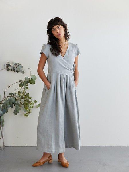 STYLE CAMP Linen Wrap Jumpsuit