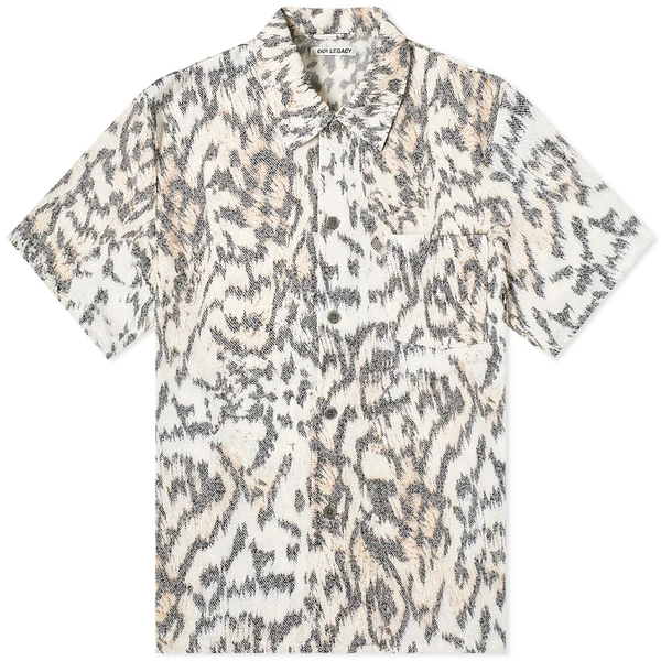 Our Legacy Box Shirt Short Sleeve - Tiger Print