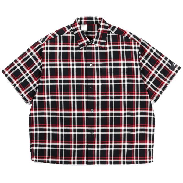 N.Hoolywood Short Sleeve Undercover Shirt - BLACK CHECK