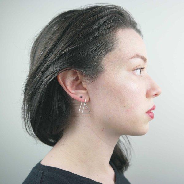 Body Double Kicks Earrings - silver
