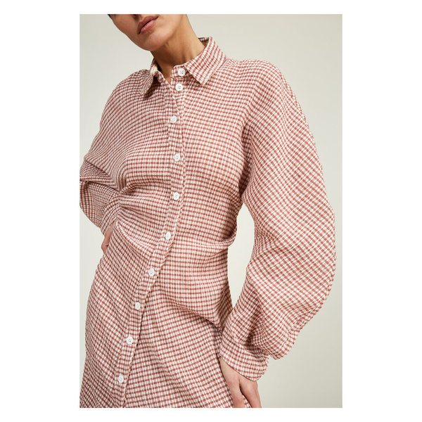 Lorod Twisted Shirt Dress - Rose