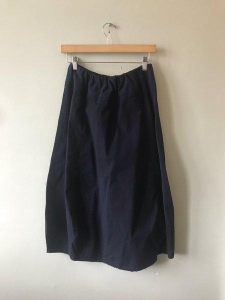 Eleven Stitch Rib Yoke Skirt - Indigo