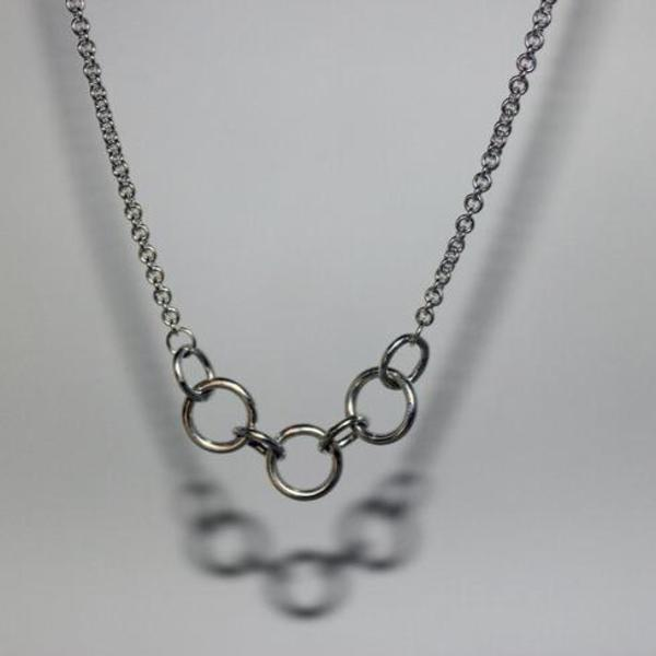 Body Double Chained Choker - sterling silver