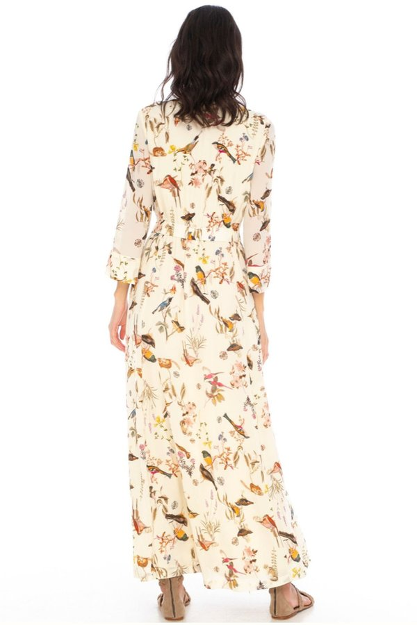 Caballero Ravi Dress - Mustard Protea Flowers