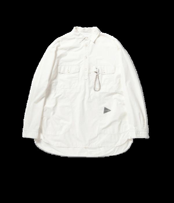 and wander CORDURA Typewriter Long Sleeve Over Shirt - White
