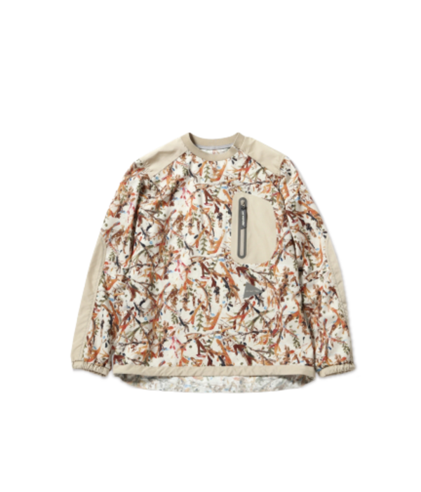 and wander Printed Vent Pullover - Beige