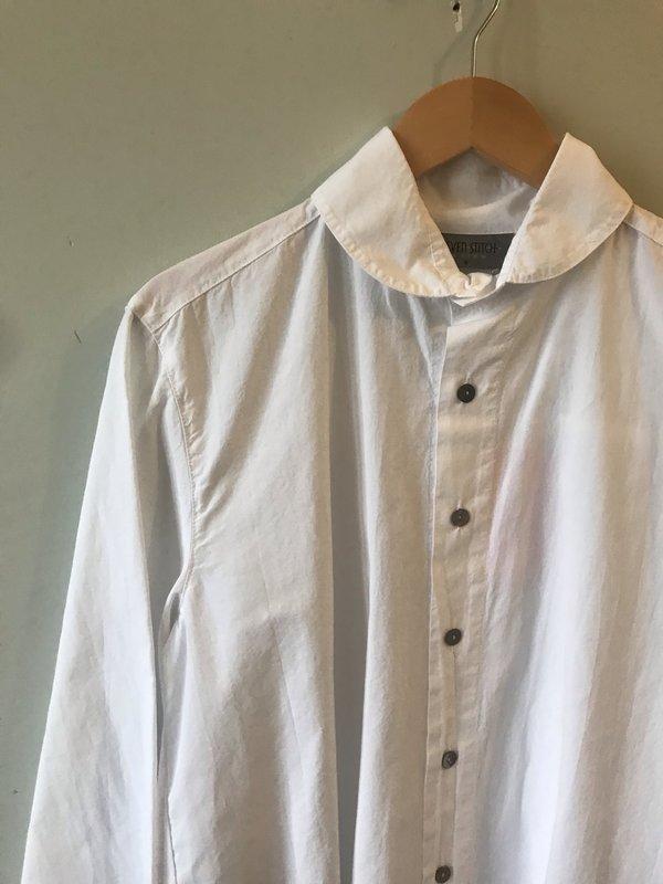 Eleven Stitch Roll Collar Shirt - chalk