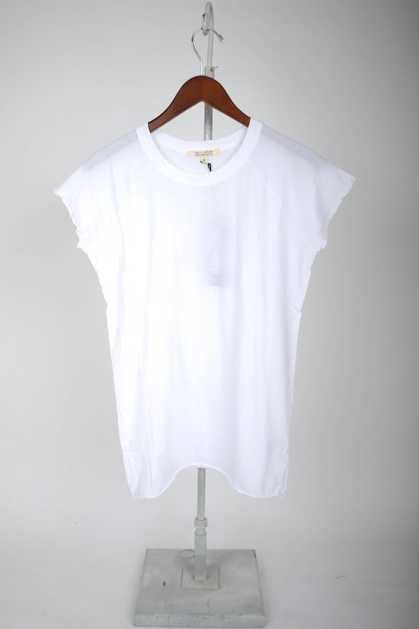 Nili Lotan Short-Sleeve Baseball Tee - White