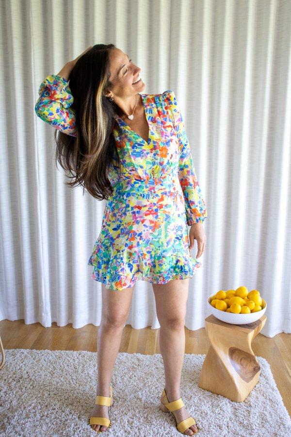Saloni Ayla Short Dress - Summer Confetti