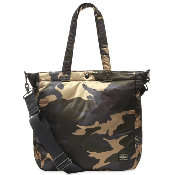 Porter Yoshida Counter Shade 2Way Tote Bag - WOODLAND KHAKI
