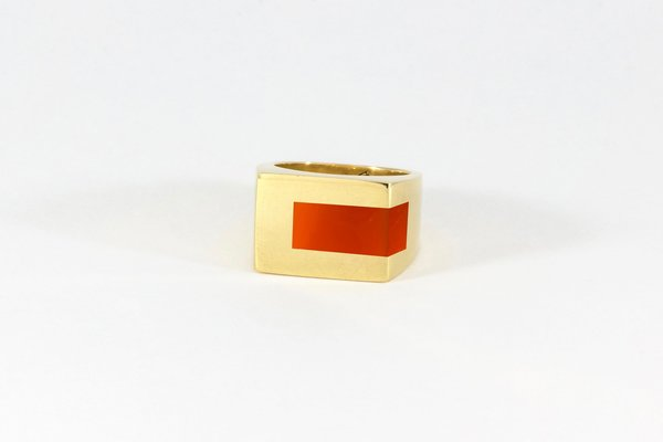 Legier Carnelian Stone Signet Strip Inlay