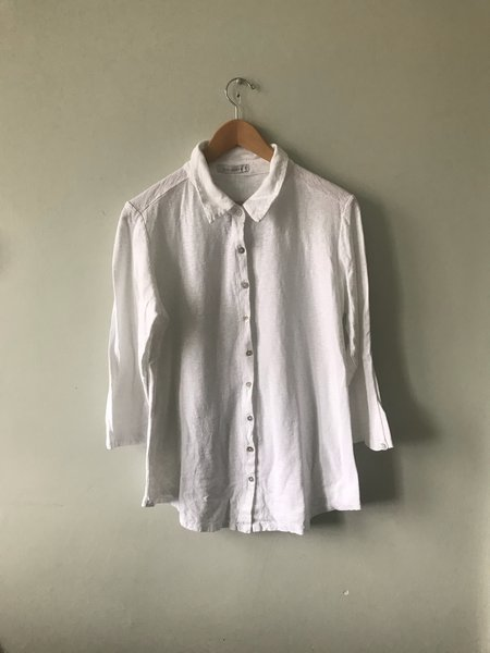 cut-loose Cut Loose 3/4-Sleeve Collared Shirt - White