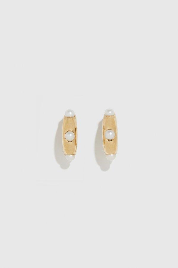 Wolf Circus Isla Pearl Earrings - 14k gold plated