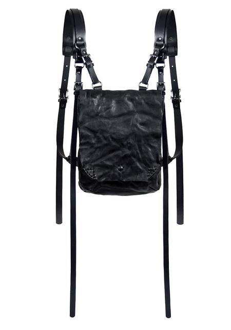 TEO+NG Leather Harness Petite Backpack - black