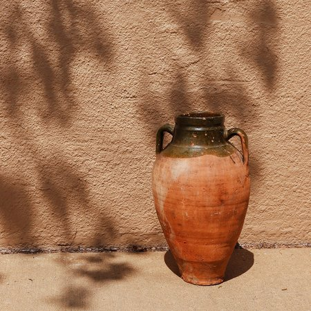 Vintage Large Terracotta Italian Olive Jar with Handles