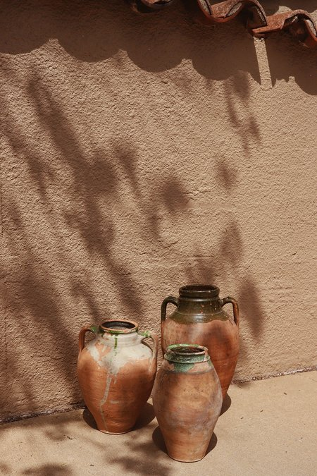Vintage Large Terracotta Italian Olive Jar with Handles
