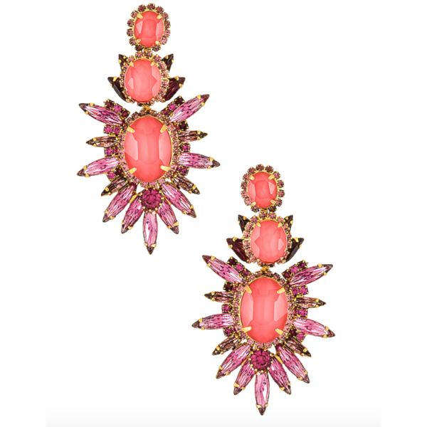 Elizabeth Cole Carmella Earrings - Pink Multi