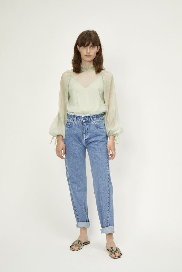 Just Female Sanne Blouse - Agate Green