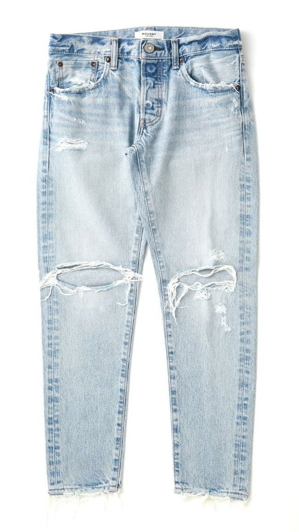 Moussy Yardley Tapered Denim - Very Light Blue