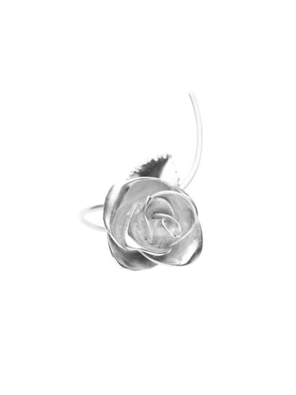 VIBE HARSLOF X FACETASM Rose Ring - Sterling Silver