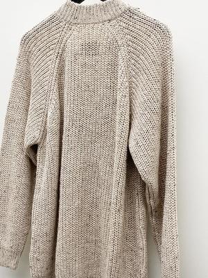 Lauren Manoogian Shaker Cardigan - Beige Tweed