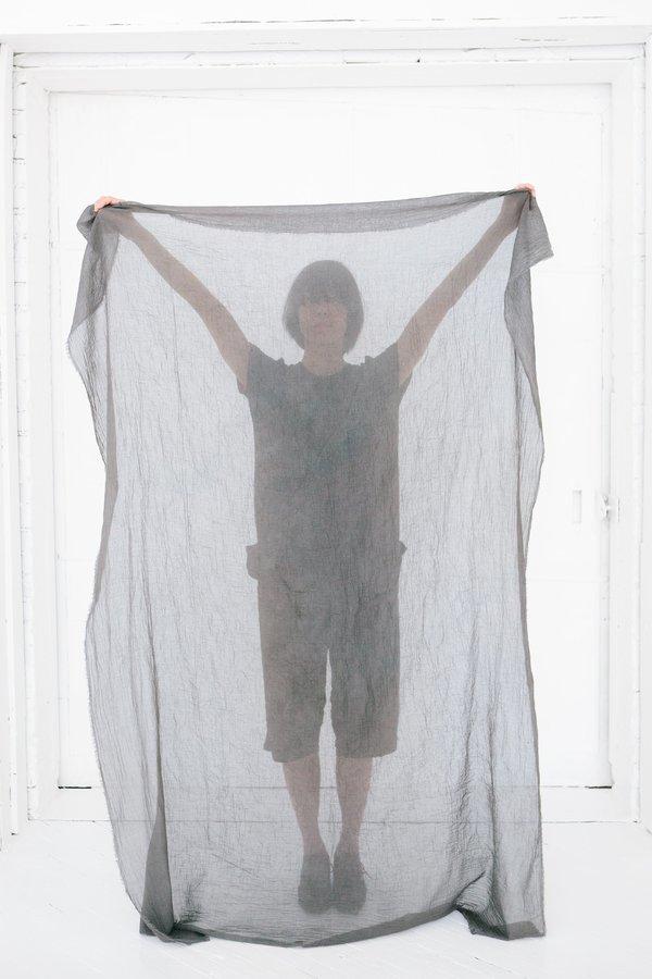 Scarf Shop fine organic cotton scarf - fog