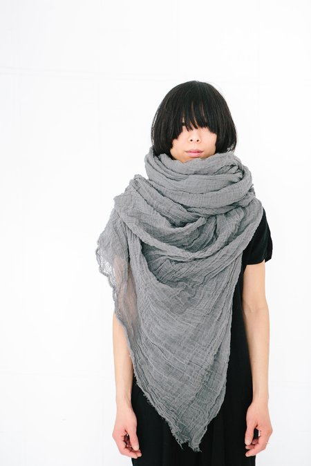 Scarf Shop giant cotton scarf - soot