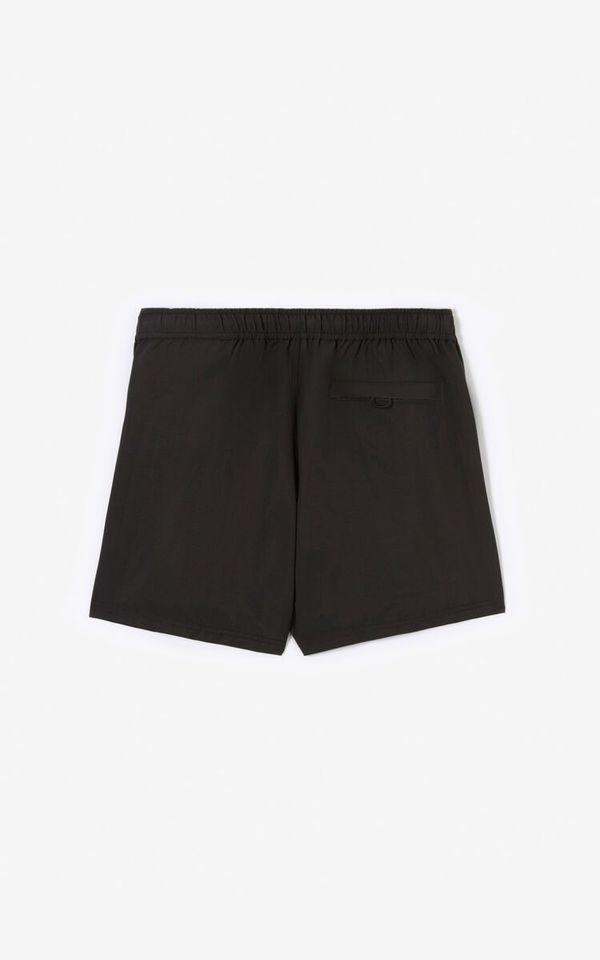 Kenzo Sport Logo Nylon Swim Shorts - Black