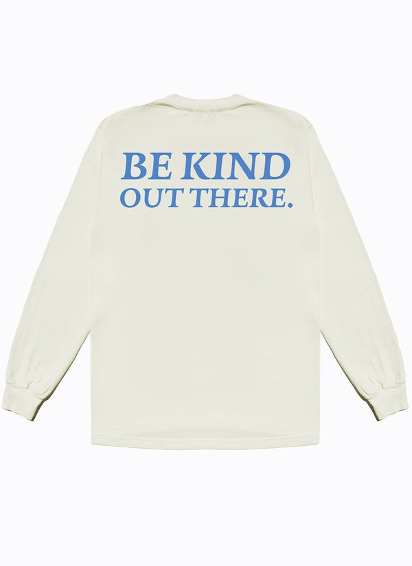 Noble Gentlemen Trading Co. Be Kind Out There Long Sleeve Tee - Off White