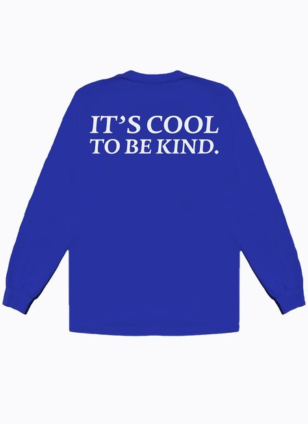 Noble Gentlemen Trading Co. Cool To Be Kind Long Sleeve Tee - Royal Blue