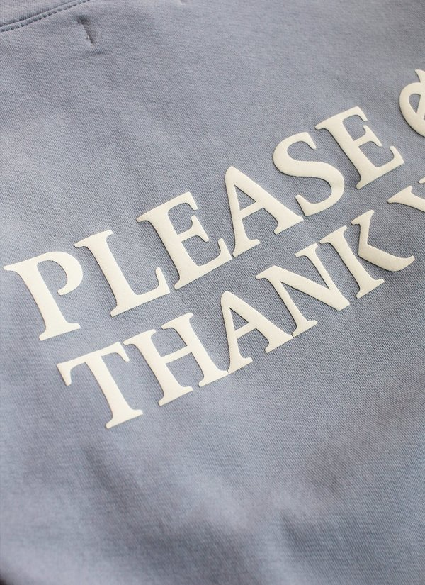 Noble Gentlemen Trading Co. Please & Thank You Long Sleeve Tee - Sky Blue