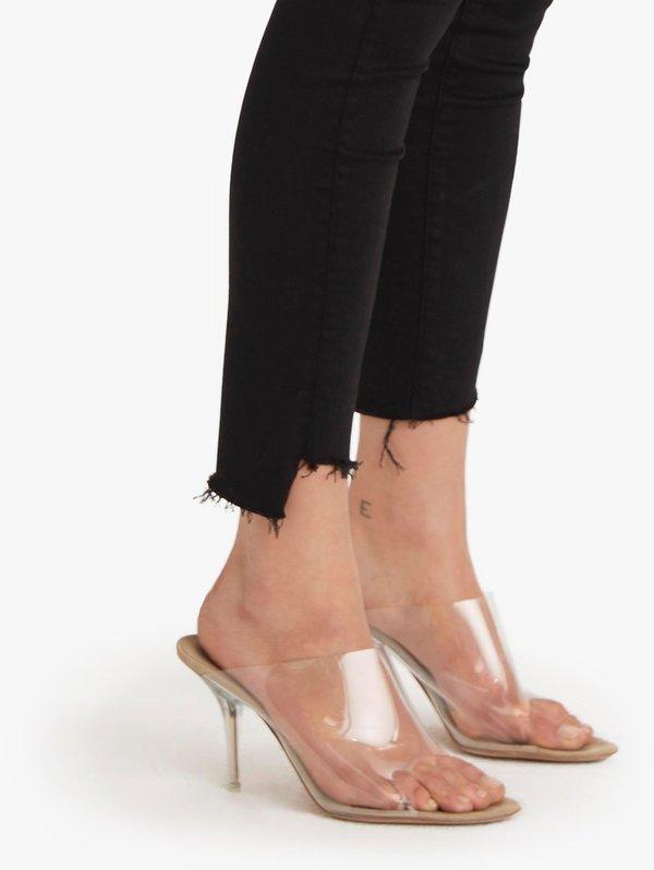 Mother Denim Stunner Zip Ankle Step Fray - Not Guilty
