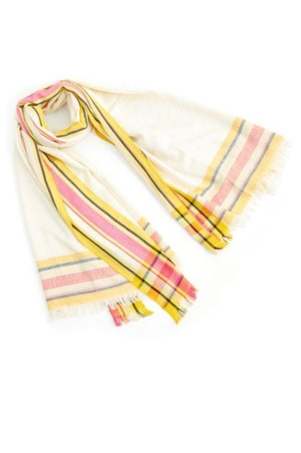 M.Patmos Border Scarf - Pink Combo