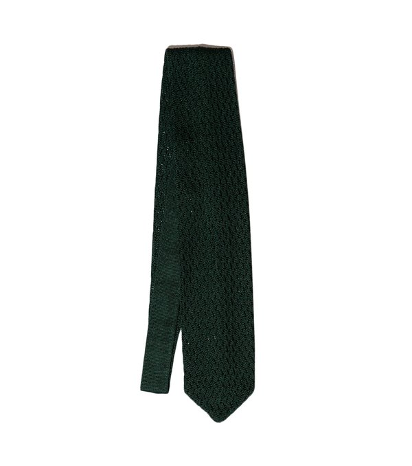 Freemans Sporting Club Paolo Albizzati Point Knit Tie - Green