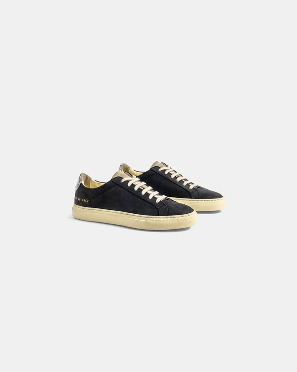 woman by common projects W Retro Low Special Edition - Black/Silver